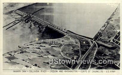 Corps of Engineers, US Army - Columbia River, Washington WA Postcard
