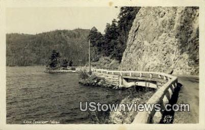 Real Photo - Lake Crescent, Washington WA Postcard