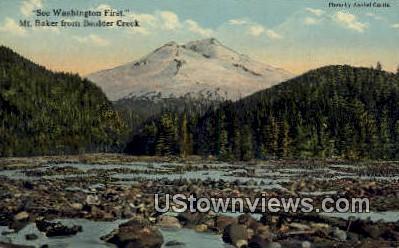 Boulder Creek - Mount Baker, Washington WA Postcard