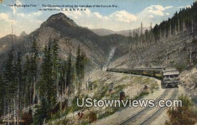 CM & St. PRR - Cascade Mountains, Washington WA Postcard