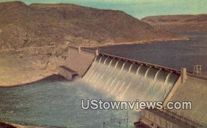 Grand Coulee Dam, Washington,     ;     Grand Coulee Dam, WA Postcard