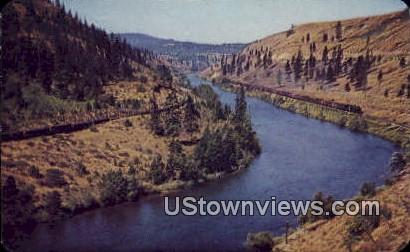 Yakima River, WA     ;     Yakima River, Washington Postcard