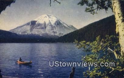 Mt. St. Helen - Spirit Lake, Washington WA Postcard