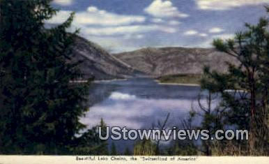 Lake Chelan, Washington,     ;     Lake Chelan, Wash Postcard