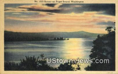 Puget Sound, Washington,     ;     Puget Sound, WA Postcard