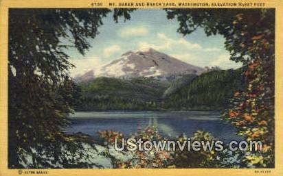 Baker Lake - Mount Baker, Washington WA Postcard