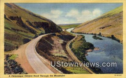 Canyon Road - Misc, Washington WA Postcard