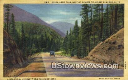 Snoqualmie Pass, Wash,     ;     Snoqualmie Pass, WA - Washington WA Postcard