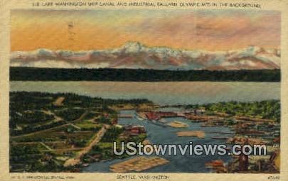 Lake Washington Ship Canal - Seattle Postcard
