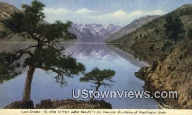 Cascade Mountains - Lake Chelan, Washington WA Postcard