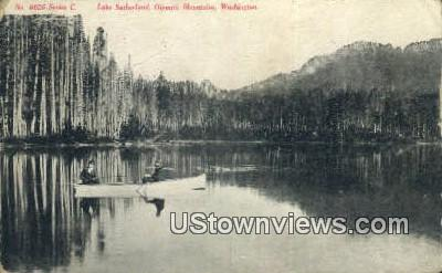Lake Sutherland - Olympic Mountains, Washington WA Postcard