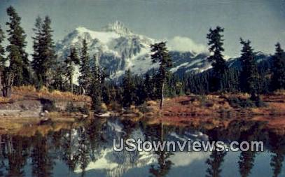 Mount Shuksan - Picture Lake, Washington WA Postcard