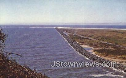 Mouth of Columbia - North Jetty, Washington WA Postcard