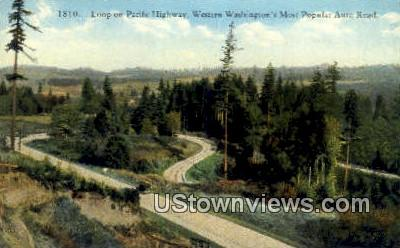 Pacific Highway, Washington,     ;     Pacific Highway, WA Postcard