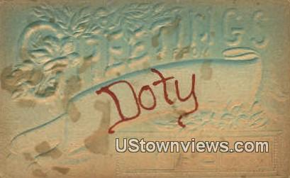 Doty, Washington,     ;     Doty, Wash Postcard