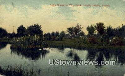 City Park - Walla Walla, Washington WA Postcard
