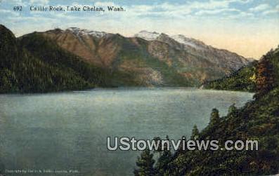 Castle Rock - Lake Chelan, Washington WA Postcard