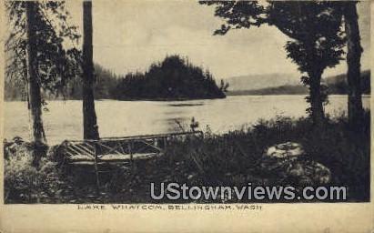Lake Whatcom - Bellingham, Washington WA Postcard