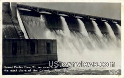 Real Photo - Grand Coulee Dam, Washington WA Postcard