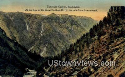 Great Northern RR - Tumwater Canyon, Washington WA Postcard