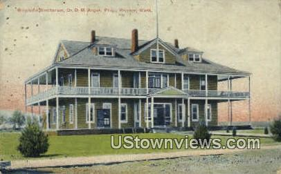 Riverside Sanitarium, Dr DM Angus - Prosser, Washington WA Postcard