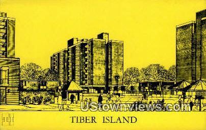 Timber Island Apartment - Washington WA Postcard