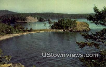 Fidalo Island - Rosario Beach, Washington WA Postcard
