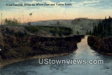 White Pass & Yukon Route - Miles Canyon, Washington WA Postcard