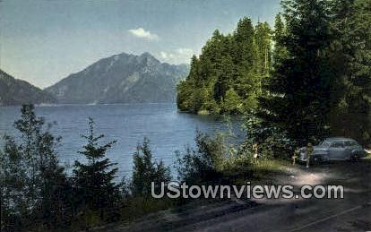 Lake Crescent, WA     ;     Lake Crescent, Washington Postcard