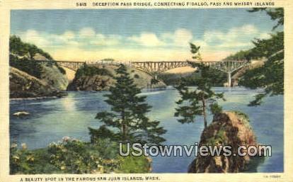 Deception Pass Bridge - San Juan Islands, Washington WA Postcard