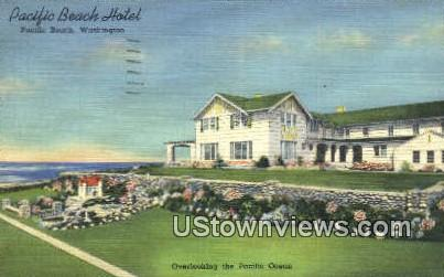 Pacific Beach Hotel - Washington WA Postcard