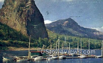 Beacon Rock Camas - Vancouver, Washington WA Postcard