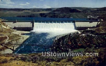 Grand Coulee Dam, Washington,     ;     Grand Coulee Dam, Wash Postcard
