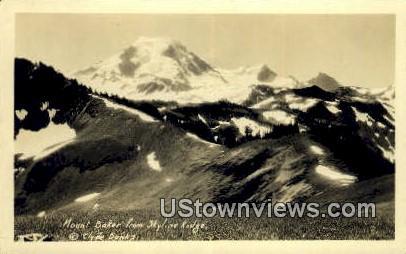 Real Photo - Skyline Ridge - Mount Baker, Washington WA Postcard