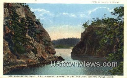 San Juan Islands - Puget Sound, Washington WA Postcard