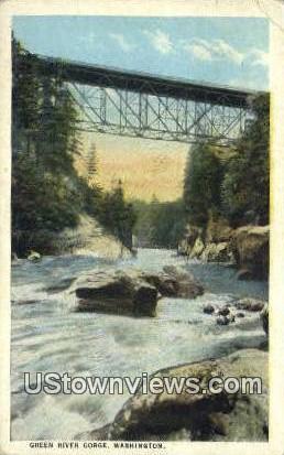 Green River Gorge, WA     ;     Green River Gorge, Washington Postcard