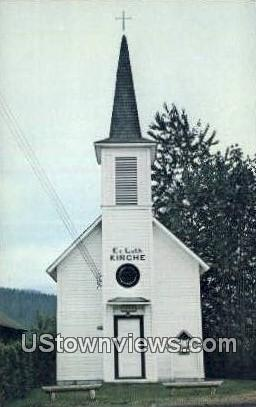 Lutheran Church - Elbe, Washington WA Postcard
