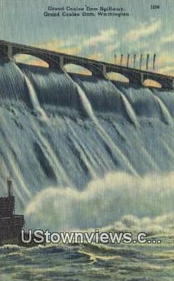 Grand Coulee Dam Spillway - Washington WA Postcard