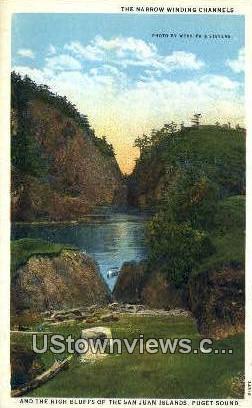 The Narrows, San Juan Islands - Puget Sound, Washington WA Postcard