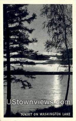 Washington Lake, WA     ;     Washington Lake, Washington - Washington Lake Postcards Postcard