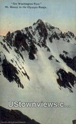 Olympic Range - Mt Meany, Washington WA Postcard