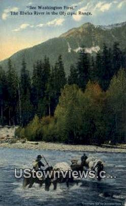 Olympic Range - Elwha River, Washington WA Postcard