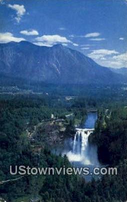 Snoqualmie Falls, Wash,     ;     Snoqualmie Falls, WA - Washington WA Postcard