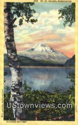 Mt St Helens, Washington,     ;     Mt St Helens, WA Postcard