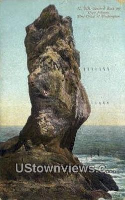 Sentinel Rock - Cape Johnson, Washington WA Postcard