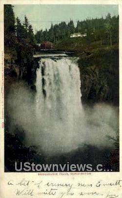 Snoqualmie Falls, WA     ;     Snoqualmie Falls, Washington Postcard