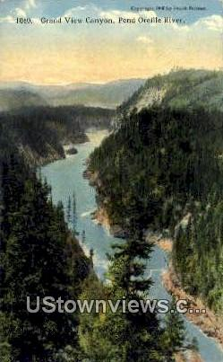 Grand View Canyon - Pend Oreille River, Washington WA Postcard