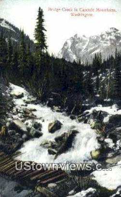 Bridge Creek - Cascade Mountains, Washington WA Postcard