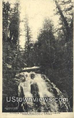 Middle Falls, Salmon Creek - Conconlilly, Washington WA Postcard