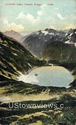 Doubtful Lake - Cascade Range, Washington WA Postcard